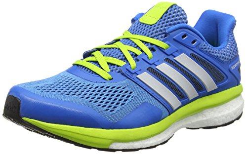 adidas Herren Supernova Glide 8 Laufschuhe, Blau (Shock Blue/Ftwr White/Semi Solar Slime), 43 1/3 EU (Schuhe Aus Zurück In Die Zukunft)
