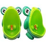 JJPRIME - Rana Niños Niños Orinal Formación Aseo Niños Aim target molino soporte de pared urinario para los muchachos Pee Trainer baño verde Green Frog