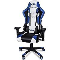VADIM Gaming Stuhl Bürostuhl Gamer Ergonomischer Stuhl Einstellbare 2D Armlehne Lendenkissen Drehstuhl Racing PU Leder…