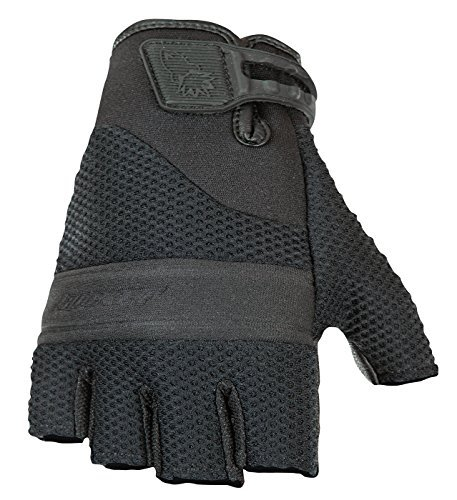 Joe Rocket Vento Men's Fingerless Motorcycle Riding Gloves (Black, Large) by Joe Rocket - Mens Joe Rocket