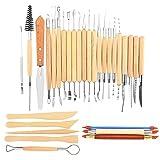 ChaRLes 30 pezzi scultura strumenti argilla carving set modellazione strumenti scultura coltello in legno