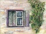 Leinwandbild 130 x 100 cm: Fenster zum Hof von Jitka Krause - fertiges Wandbild, Bild auf Keilrahmen, Fertigbild auf echter Leinwand, Leinwanddruck