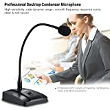 ammoon Microphone de Bureau Flexible à Condensateur Professionnel Par Fil avec Microphone Cardioïde avec Câble Amovible XLR à 1/4 \