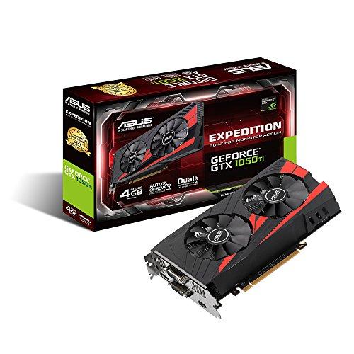 Asus EX-GTX1050TI-4G Nvidia GeForce Grafikkarte (PCIe 3.0, 4GB DDR5 Speicher, HDMI, DVI, DisplayPort)