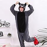 wotogold Tier Waschbär Pyjama Unisex Erwachsene Cosplay Kostüme Gray -