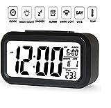 #9: V2A Automatic Sensor Night Time Light Smart Digital Alarm Clock for Home and Office