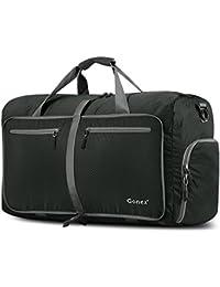 Gonex - Bolsa de equipaje plegable para deporte o viaje (multiusos, impermeable, 80 L)L (Gris Oscuro)