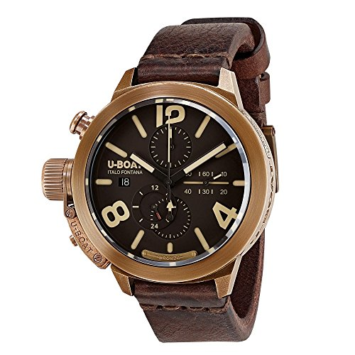 U-Boat Classico Automatic Watch, Bronze, 50mm., Leather strap, 8064