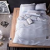 Fogli trapuntati Fodere semplici tessili per la casa Fodera in cotone lavato Set di quattro pezzi Non può permettersi la palla Squisita morbida Comoda ( Color : A , Size : 200*230cm )