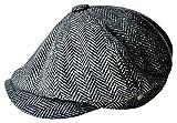 MINAKOLIFE Chapeau Casquette Vintage'Shelby' Vintage Chapeau Casquette Cabbie Chapeau Gatsby Ivy Chapeau Irlandais Chasse(58cm(M-L),noir)
