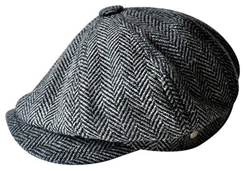 er Cabbie Hut Gatsby Efeu Kappe irisch Jagd Zeitungsjunge Strecken (60cm schwarz) (Irish Fedora)