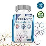 Colageno hidrolizado con magnesio, calcio, vitamina C y D, mas Silicio, protege huesos, articulaciones, piel, uñas y cabello, 180 comprimidos, recuperaciones, deportistas, antoxidante, novonatur.