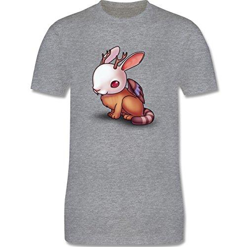 Sonstige Tiere - Wolpertinger - Herren Premium T-Shirt Grau Meliert