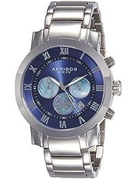 Akribos XXIV Grandiose Analog Blue Dial Men's Watch-AK622BU