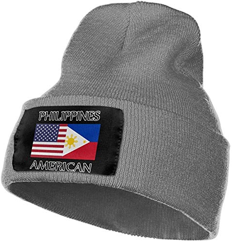 ZMYGH Philippines American Flag Men Women Knit Beanie Hat Winter Ski Plain Cap