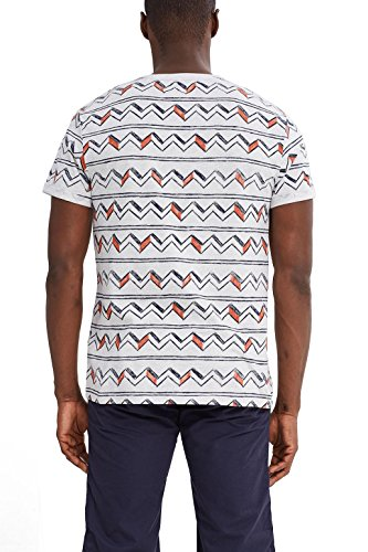 edc by ESPRIT Herren T-Shirt Weiß (Off White 110)