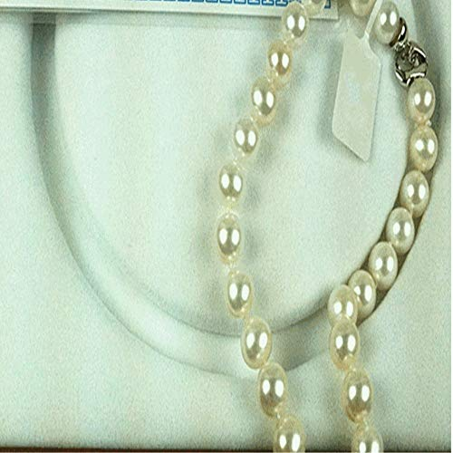 Lnyy Süßwasser Perlenkette rund 10-11 mm mit Box-Geschenkgutschein