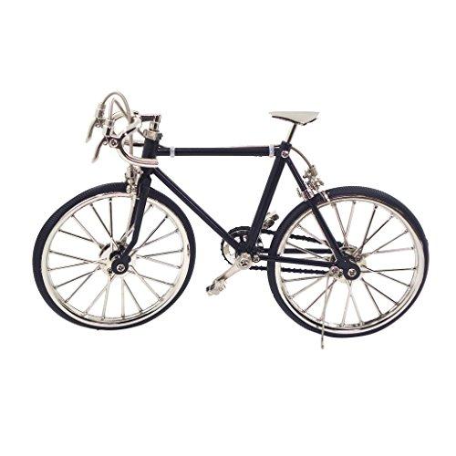 Sharplace 1:10 Casa Della Bambole Miniatura Mobilia Arredo Mini Biciclette Decorativo Goradino Accessori Artigianale Giocattoli Bambino Lega Nero
