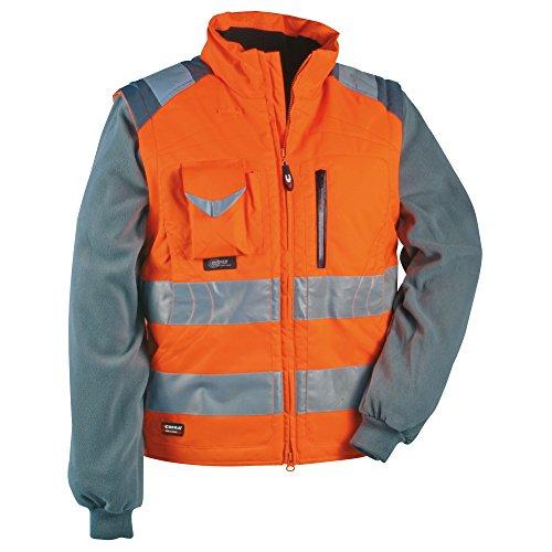Cofra - Maglione e gilet ad alta visibilità, 2 in 1, modello: Signal, colore: arancione fluorescente, 40-00V02301-54