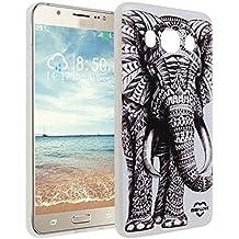 Galaxy J5 2016 , Asnlove Crystal Clear TPU Silikon Bumper Transparent Backcover Case Handy Schutzhülle Premium Kratzfest TPU Durchsichtige Schutzhülle für Samsung Galaxy J510F, Elefant