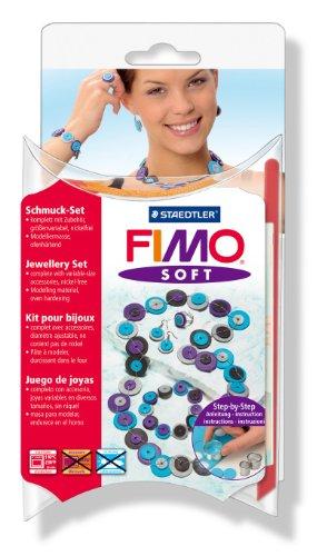 Staedtler 8023 87 - Fimo Soft Modelliermasse, ofenhärtend, Kreativ-Set Knotted dots -