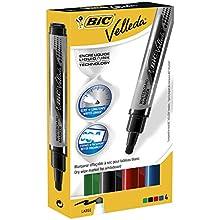 BIC Velleda Liquid Ink Dry Wipe Markers (Pack of 4)