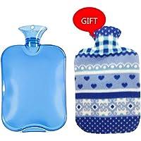 Gummi-Thermoskanne Klassische PVC-heiße kalte Wasser-Flaschen-Tasche mit Abdeckung Winter-hintere Ansatz-Handwärmer-Tasche... preisvergleich bei billige-tabletten.eu