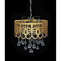 Schicker Orientalischer Kristall Kronleuchter Mit Echten Kristall Kugeln.  Abbildung In Goldfarben (Auch In Silber