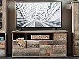 möbelando TV-Lowboard Unterschrank Fernsehschrank HiFi Schrank Board Rack Britta III