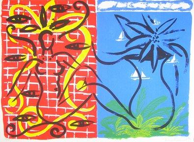 Stefan szczesny originale grafica Immagine handsig. numm. The Eyes At Mandalay-Spedizione gratuita, senza (Mandalay Cuscini)