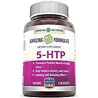 Amazing Nutrition 5-htp 100 Mg 120 Vcaps - Promotes Positive Mood & Restful Sleep preisvergleich bei billige-tabletten.eu