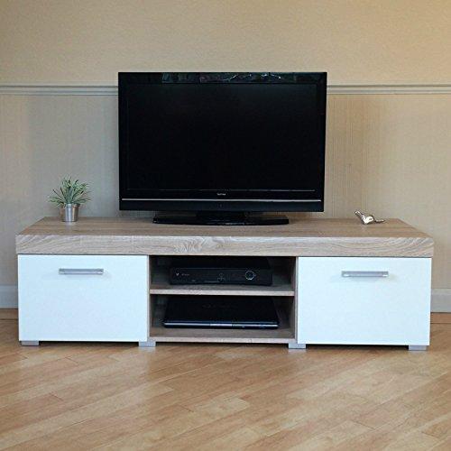 white-sonoma-oak-sydney-large-2-door-tv-cabinet-140cm-unit