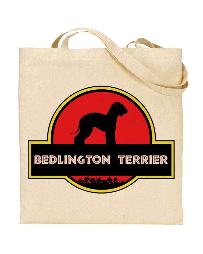 Jurassic Bark – BEDLINGTON TERRIER – Owner – Dinosaur Movie – Dog Lover – TOTE BAG – Shopping Bag – Reusable Bag – Bag For Life – Beach Bag – Totes