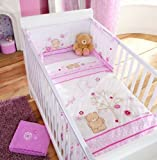 Forever Friends 'beautiful' by izziwotnot Cot/cot bed Quilt for baby girls nursery - Pink