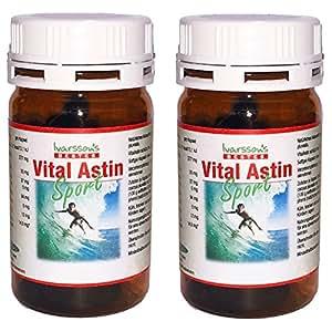 Astaxanthin 12 mg - versandkostenfrei - 2 DOSEN Astaxanthin Kapseln ( 2 x 100 ) NEUE FORMEL VitalAstin SPORT mit natürlichem Astaxanthin jetzt noch stärker mit Zink und Vitamin B1 - Antioxidans - Das Original Ivarssons VitalAstin - Ein Kapsel täglich Formula - besser als Kapseln mit 4 , 6 , 8 oder 10 mg Astaxanthin, gleichwertig wie Bioastin 12mg