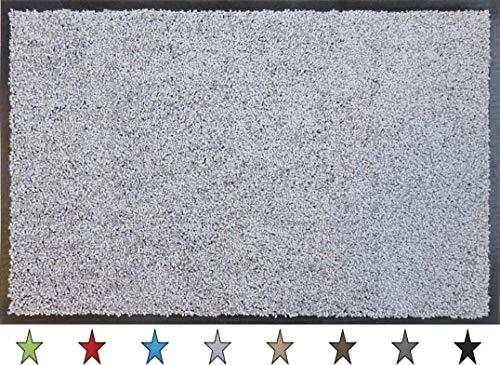"""oKu-Tex Fußmatte   Schmutzfangmatte   \""""Eco-Clean\""""  Silber/Grau   Recycling-Gummi   für innen   Eingangsbereich / Haustür / Treppenhaus / Flur   rutschfest   60x90 cm"""