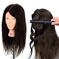 Neverland Hairdressing Styling Head Professional 100% Real Hair Training Head Cosmetic Mannequin Hair Doll
