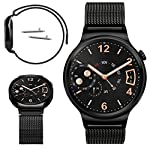 Replacement watch band for Huawei Watch Made of high quality stainless steel giving you a good wear experience The strap length can be adjusted according to your wrist Durable and sturdy perfect fit for Huawei Watch Package Contents: 1 x watch strap,...