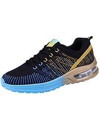 JiaMeng Hombre Zapatillas de Senderismo Deportivas Aire Libre y Deportes Casuales de Malla Zapatillas para Correr con Fondo Suave Zapatillas de Deporte