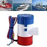 GOTOTOP 12V 1100 GPH Elektrische Bilge Pumpe Lenzpumpe Tauchpumpe Manuell Submersible Boat Pumep für Marine Fischerboot Schwimmbad und Brunnen