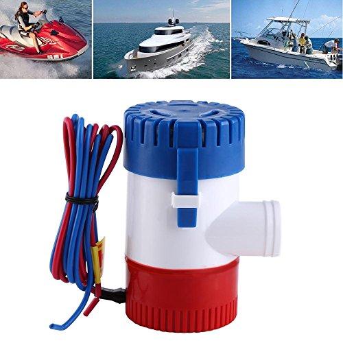 GOTOTOP 12V 1100 GPH Elektrische Bilge Pumpe Lenzpumpe Tauchpumpe Manuell Submersible Boat Pumep für Marine Fischerboot Schwimmbad und Brunnen -