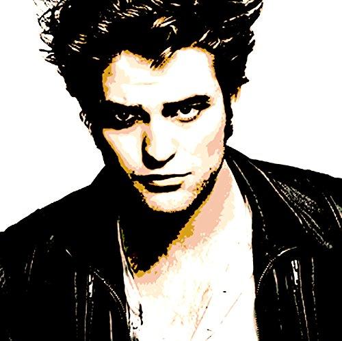 Robert Pattinson–Bild moderne handbemalt–Pop Art Effect (Format 30x 30cm) (Twilight-film-shirts)