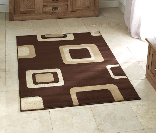 Sehr großer moderner Teppich in Braun 160x 220cm (5'7,6cm X 7' 7,6cm) Teppich (Rag-rug-5 7 X)