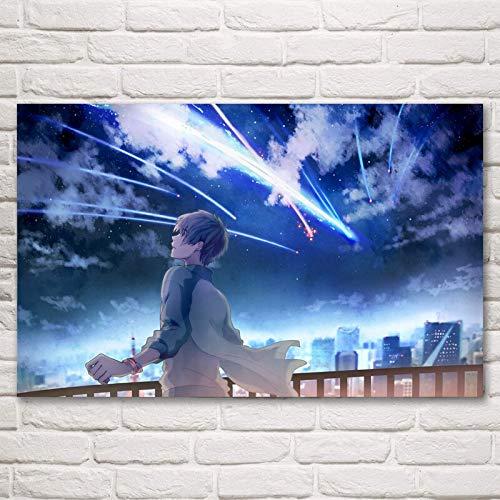 Baodanla nessuna cornice il tuo nome anime giapponese poste e stampe soggiorno arte della seta immagini decorative da parete decorazione domestica pai60x90cm