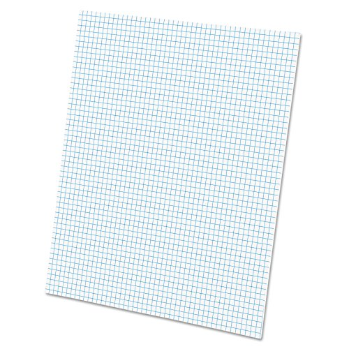 Ampad Quadrille Buchstabe Pad, 12,7cm weiß, 50Stück (top22002) -