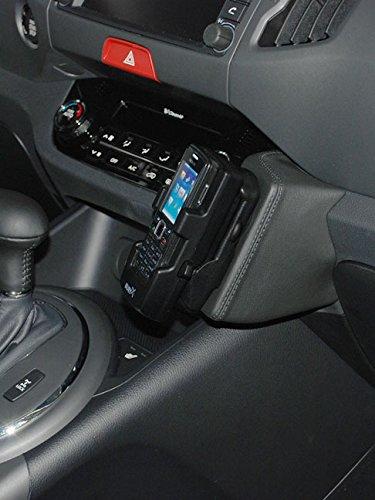 Kuda Telefonkonsole für Kia Sportage ab 07/10, Kunstleder, Schwarz Iso Mount (iso-radios