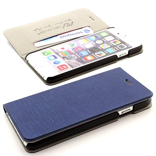 Flip Tasche Handy Schutz Hülle für das Apple iPhone 6 /6S Schale Cover Flip Case Bumper ScorpioCover gelb dunkel blau