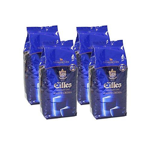 Eilles Gourmet Café Caffè Crema, 1000g, ganze Bohne 4er Pack