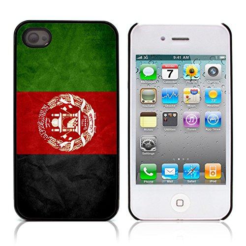 Graphic4You Vintage Uralt Flagge Von Marokko Marokkanisch Design Harte Hülle Case Tasche Schutzhülle für Apple iPhone 4 und 4S Afghanistan Afghane