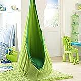 Yifeiku Co.Ltd, Kids pod sedia nido altalena amaca a poltrona, Sensory Seat indoor outdoor Play set (verde)